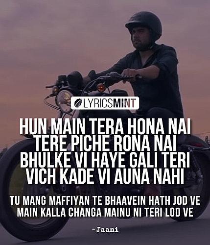 Kalla Changa Lyrics By Jaani