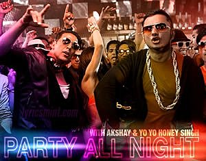Party All Night Lyrics - BOSS (2013) Hindi Lyrics
