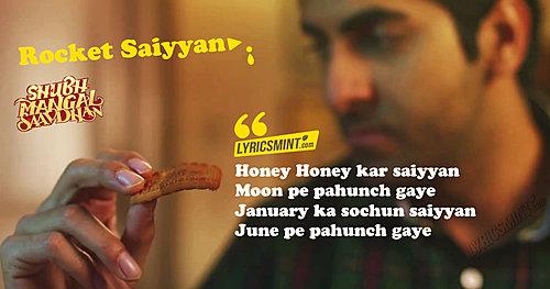 Rocket Saiyyan Lyrics Shubh Mangal Savdhan