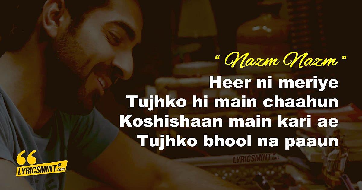 Nazm Nazm Lyrics